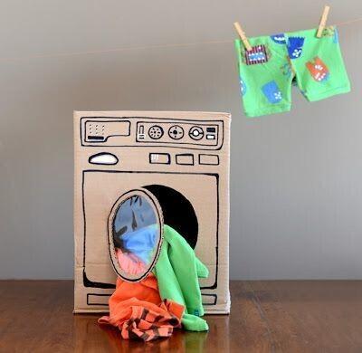 Machine à laver en carton
