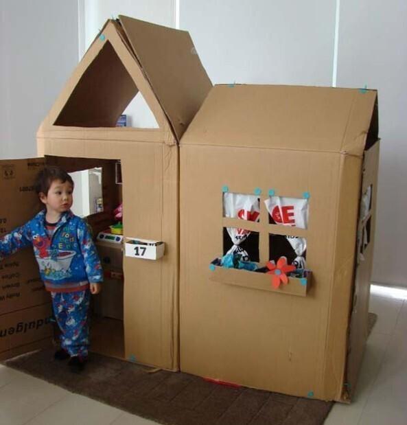 maison en carton