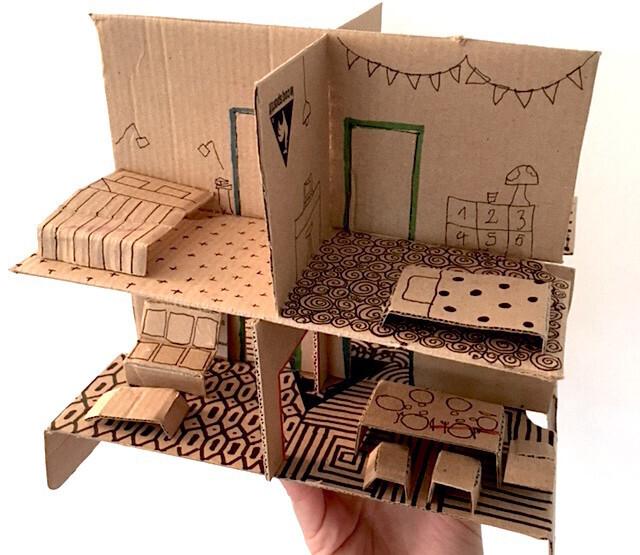 20 id es de jeux r aliser pour vos enfants avec du carton. Black Bedroom Furniture Sets. Home Design Ideas
