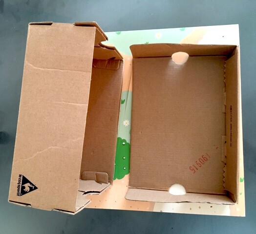 maison en carton création socle