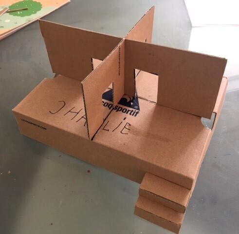 maison en carton RDC