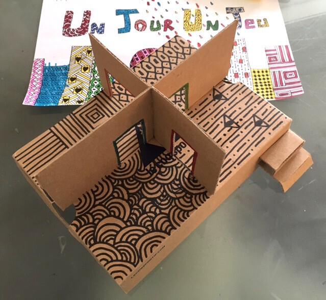 diy la maison en carton version boite chaussures. Black Bedroom Furniture Sets. Home Design Ideas