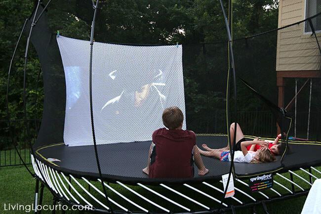 cinema en plein air trampoline
