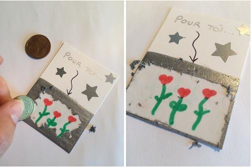 DIY fête des mères cartes à gratter