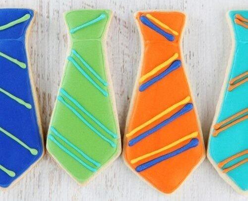Sablés cravate fête des pères