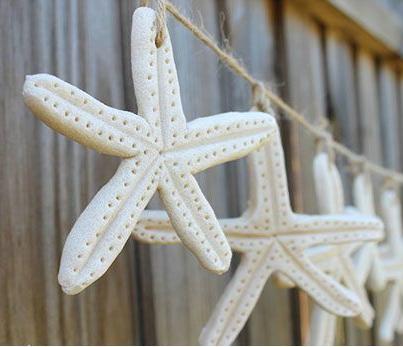 Guirlande étoiles de mer en pâte à sel