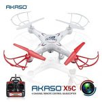 AKASO-X5C-4CH-24GHz-6-Axis-RC-Quadcopter-with-HD-Camera-Gyro-Headless-360-degree-3D-Rolling-Mode-2-RTF-RC-Drone-Bonus-MicroSD-card-Blades-Propellers-included-0