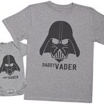 Baby-Vader-Daddy-Vader-Ensemble-Pre-Bb-Cadeau-Hommes-T-shirt-Body-bb-0