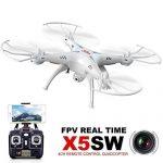 GoolRC-Syma-X5SW-Wifi-FPV-24G-RC-Hlicoptre-Drone-UAV-RTF-UFO-with-Camra-Mode-2-Blanc-Extra-2pcs-Li-po-Batterie-37V-600mAh-0