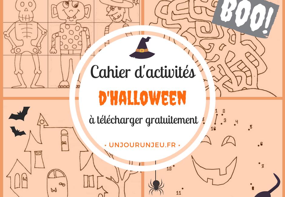 Livre activités pour Halloween