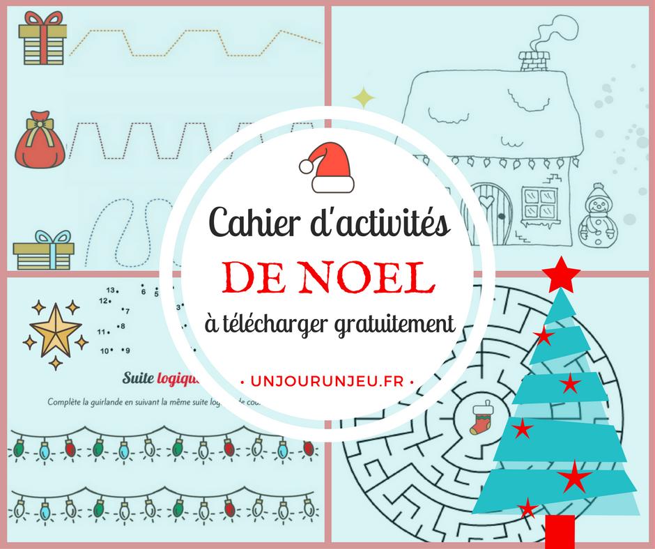Super Cahier d'activités spécial Noël à imprimer gratuitement WP76