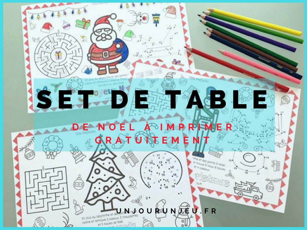 Sets de table pour les f tes de no l imprimer gratuitement Set de table a personnaliser