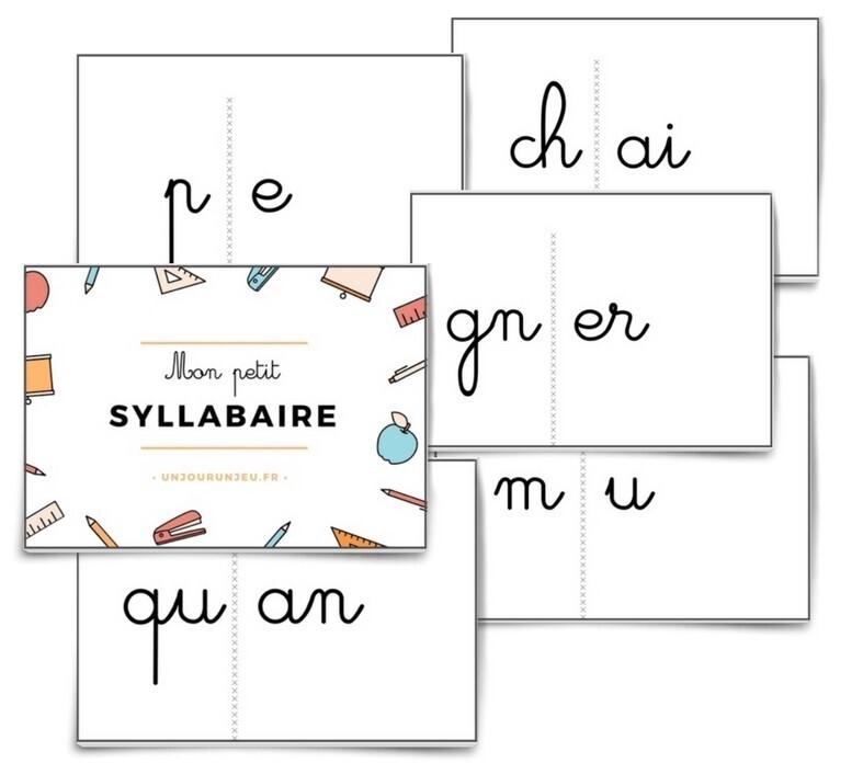 mon petit syllabaire lettres cursives