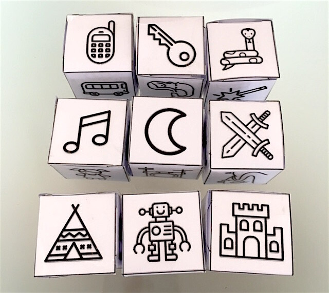 Dés des histoires au cube