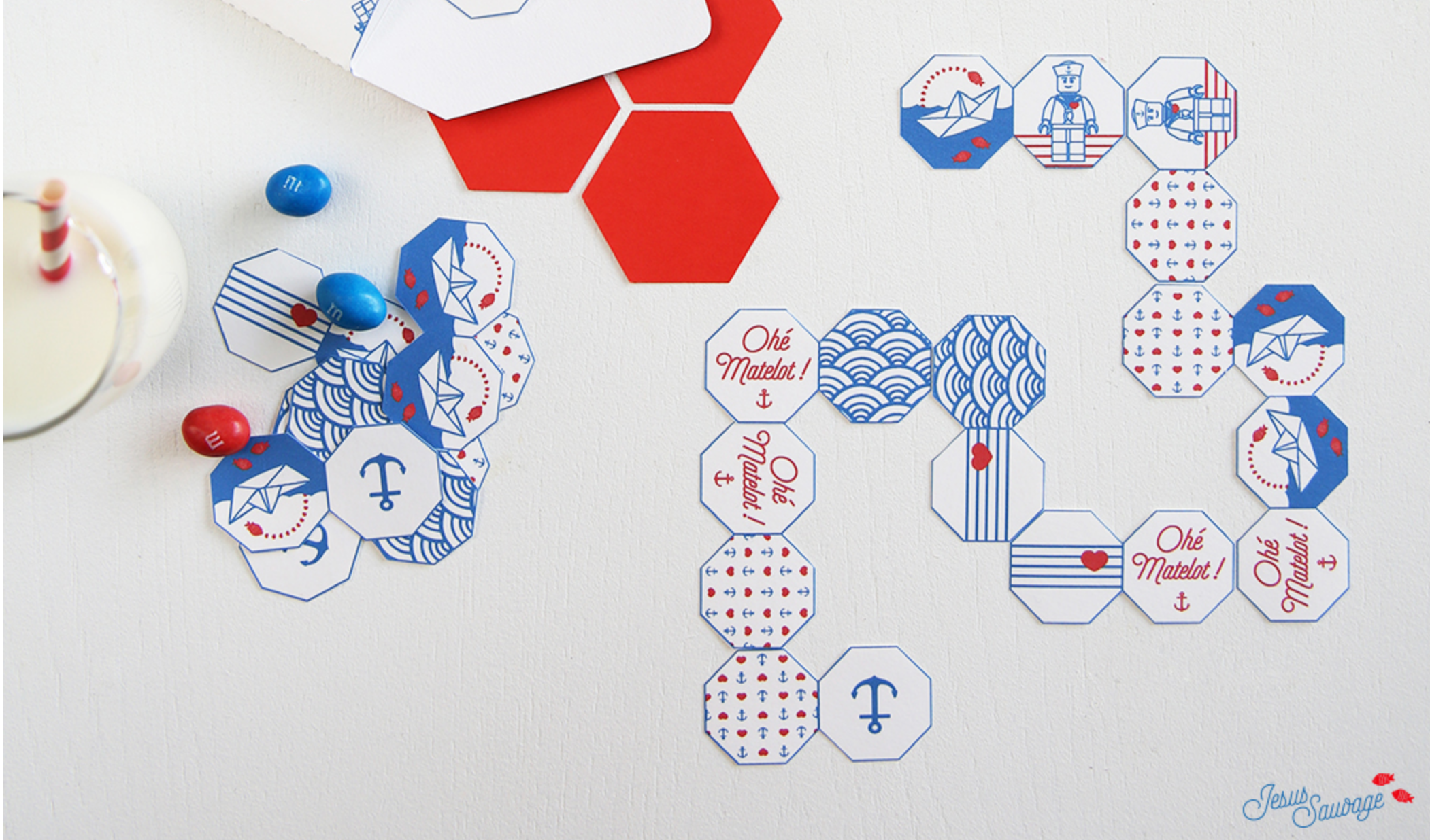 Dominos de matelot à imprimer