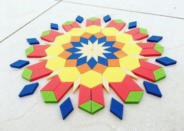 Mosaique tangram puzzle construction