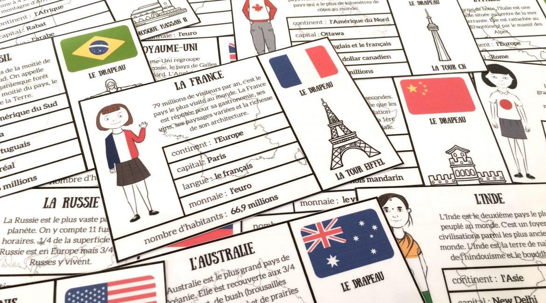 cartes des pays du monde à télécharger