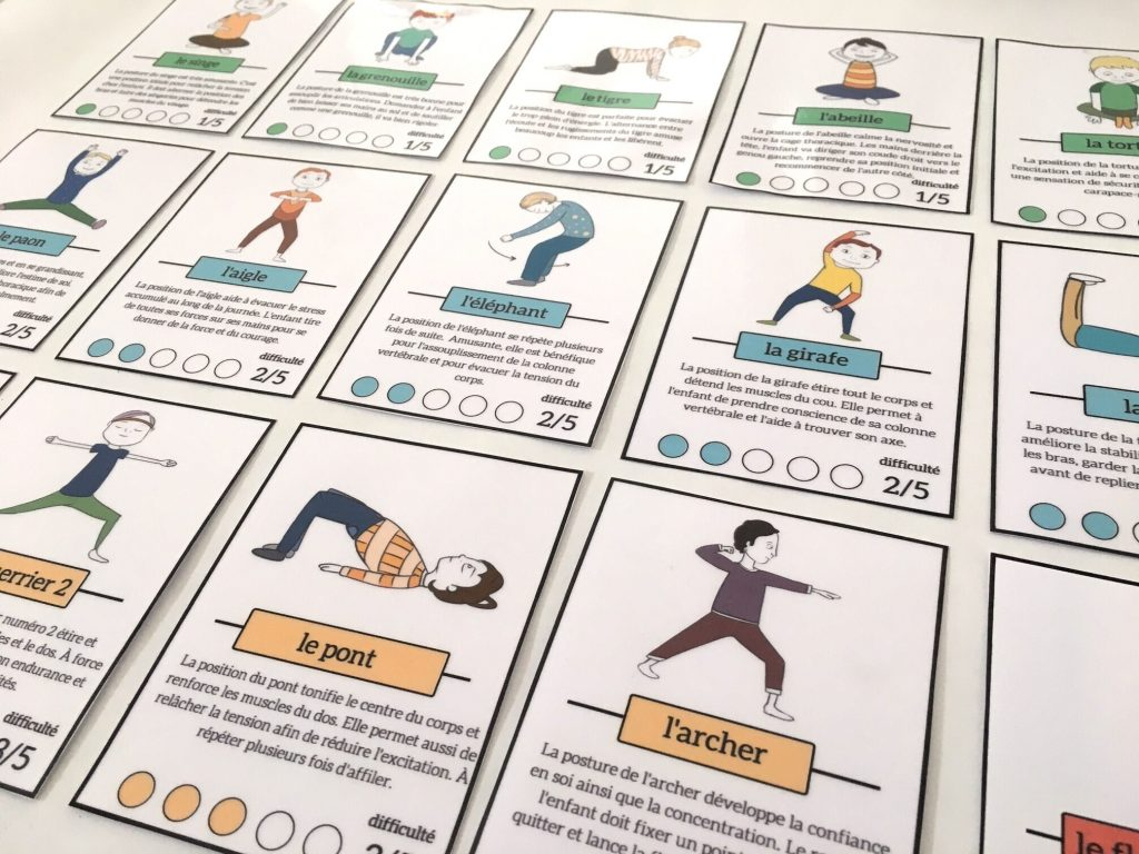 cartes yoga enfants