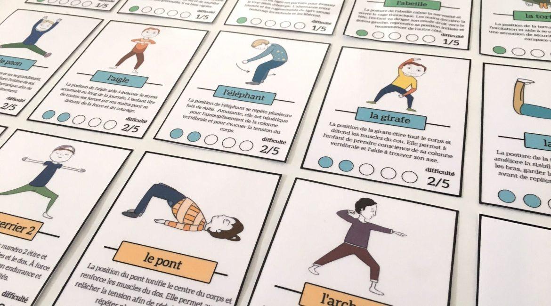 cartes yoga enfants