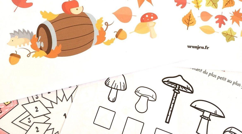 cahier de jeux automne