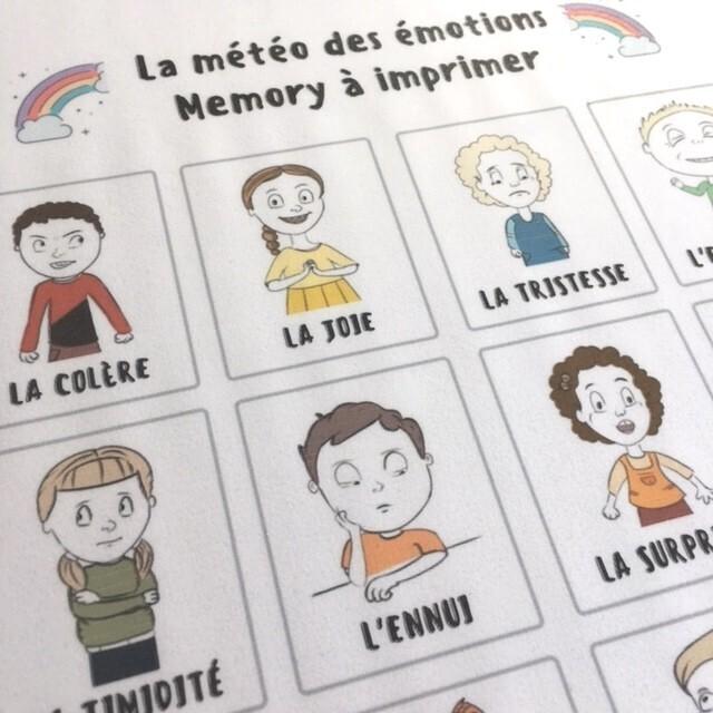 cartes émotions à imprimer