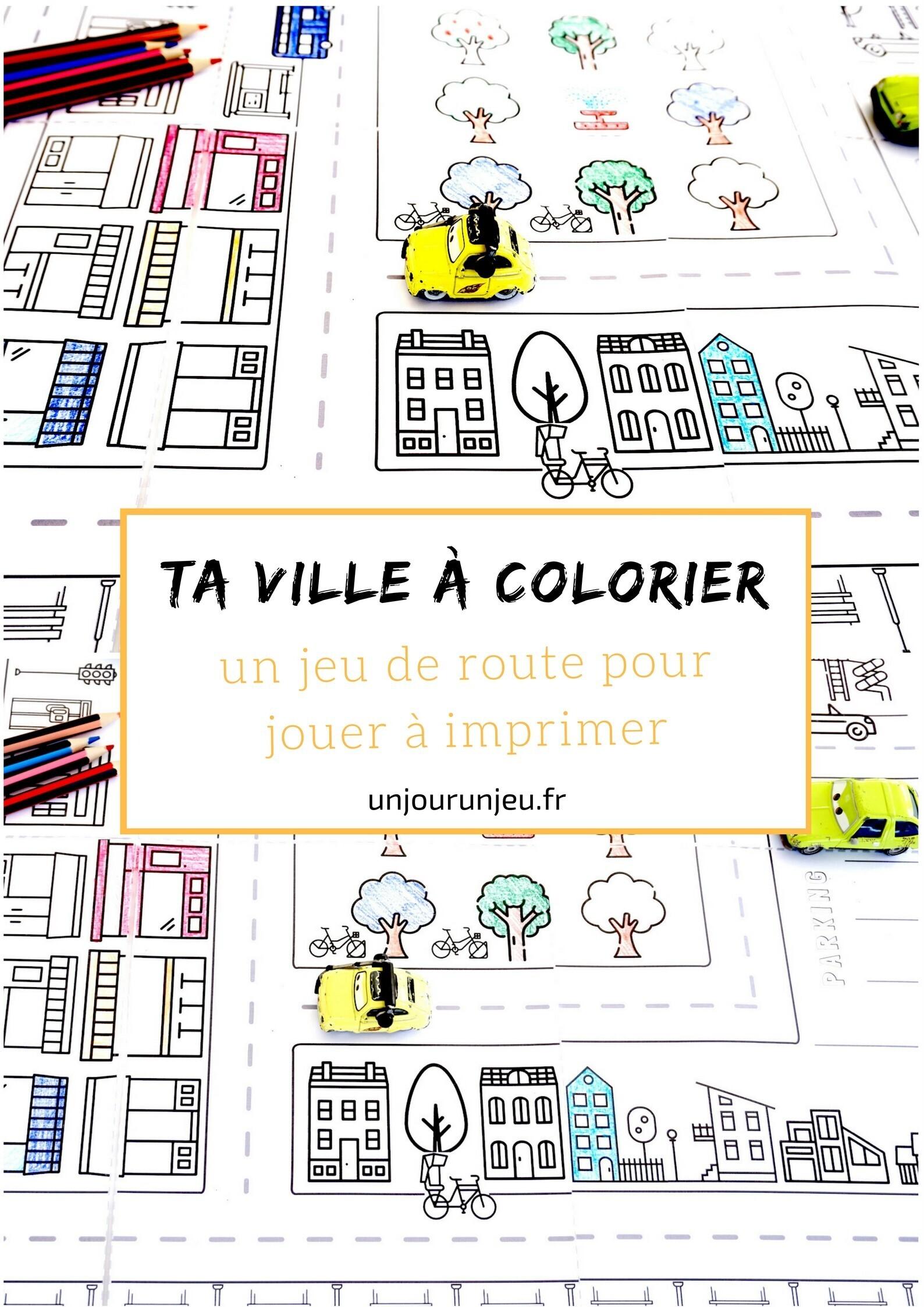 ville à colorier