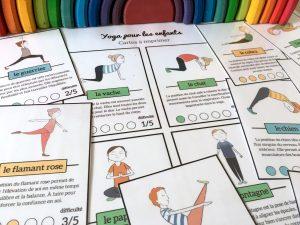 cartes posture yoga pour enfants