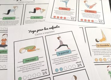 yoga enfants fond