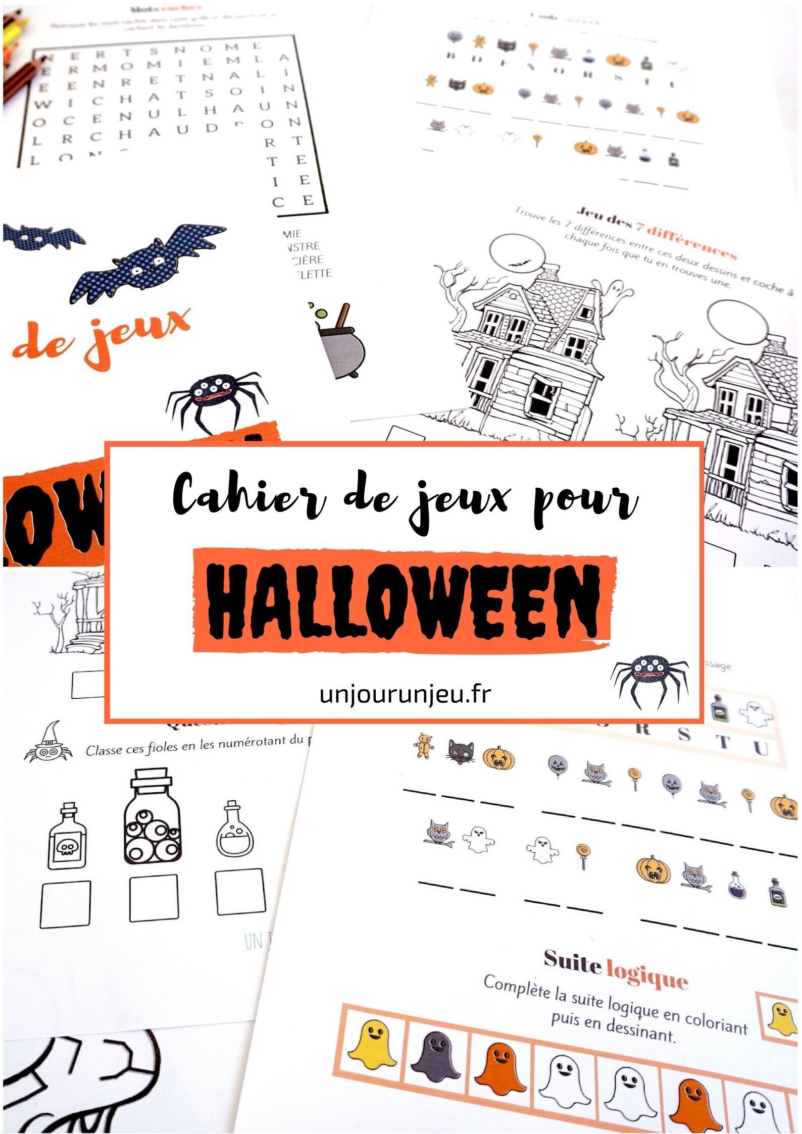 Cahier de jeux pour Halloween