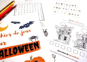 Cahier de jeux à imprimer pour Halloween