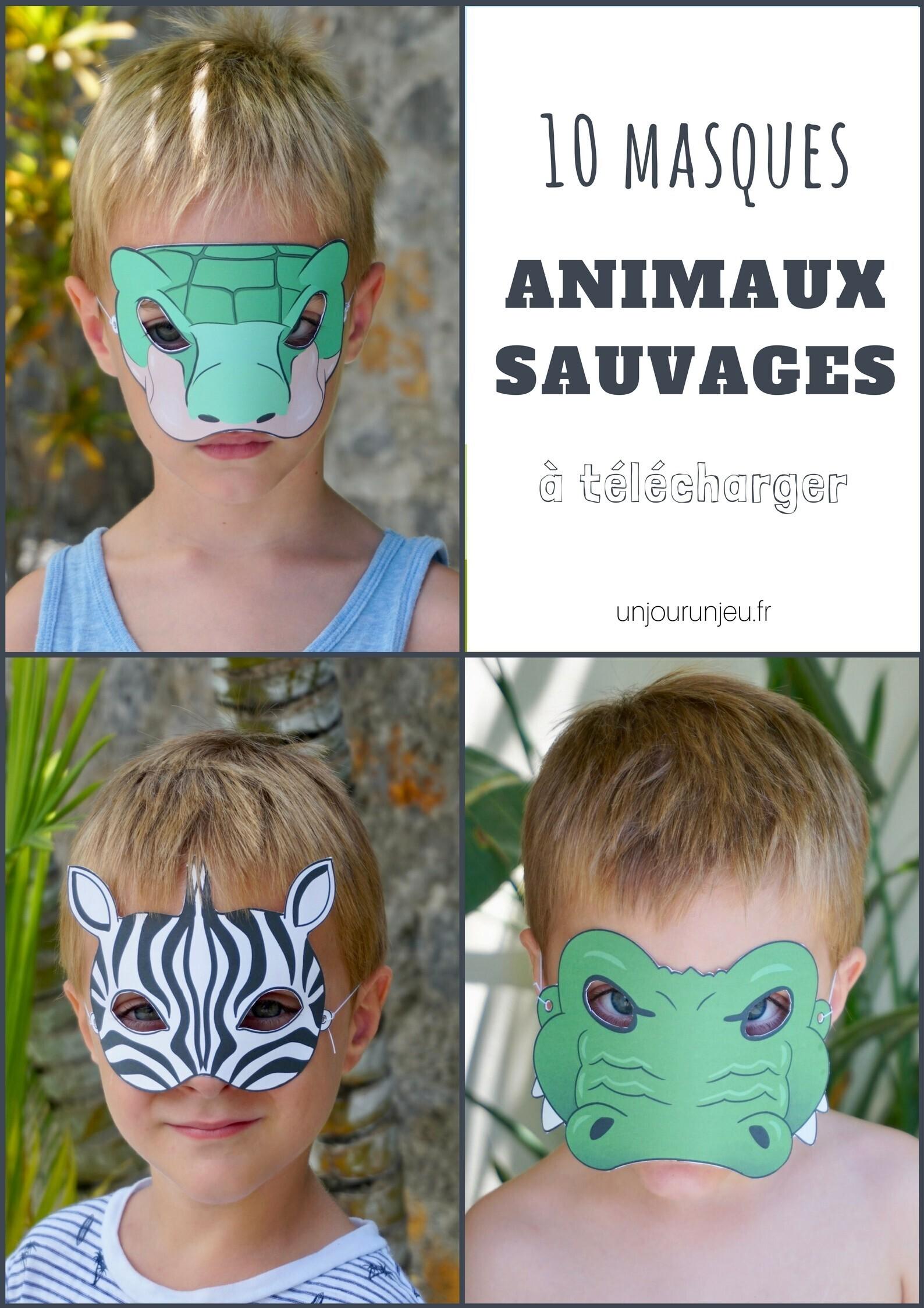 Masques animaux sauvages à imprimer