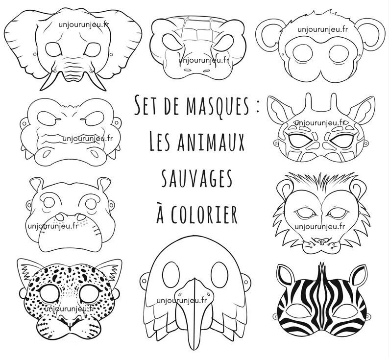 10 Masques D Animaux Sauvages A Imprimer Pour Animer Une Fete D