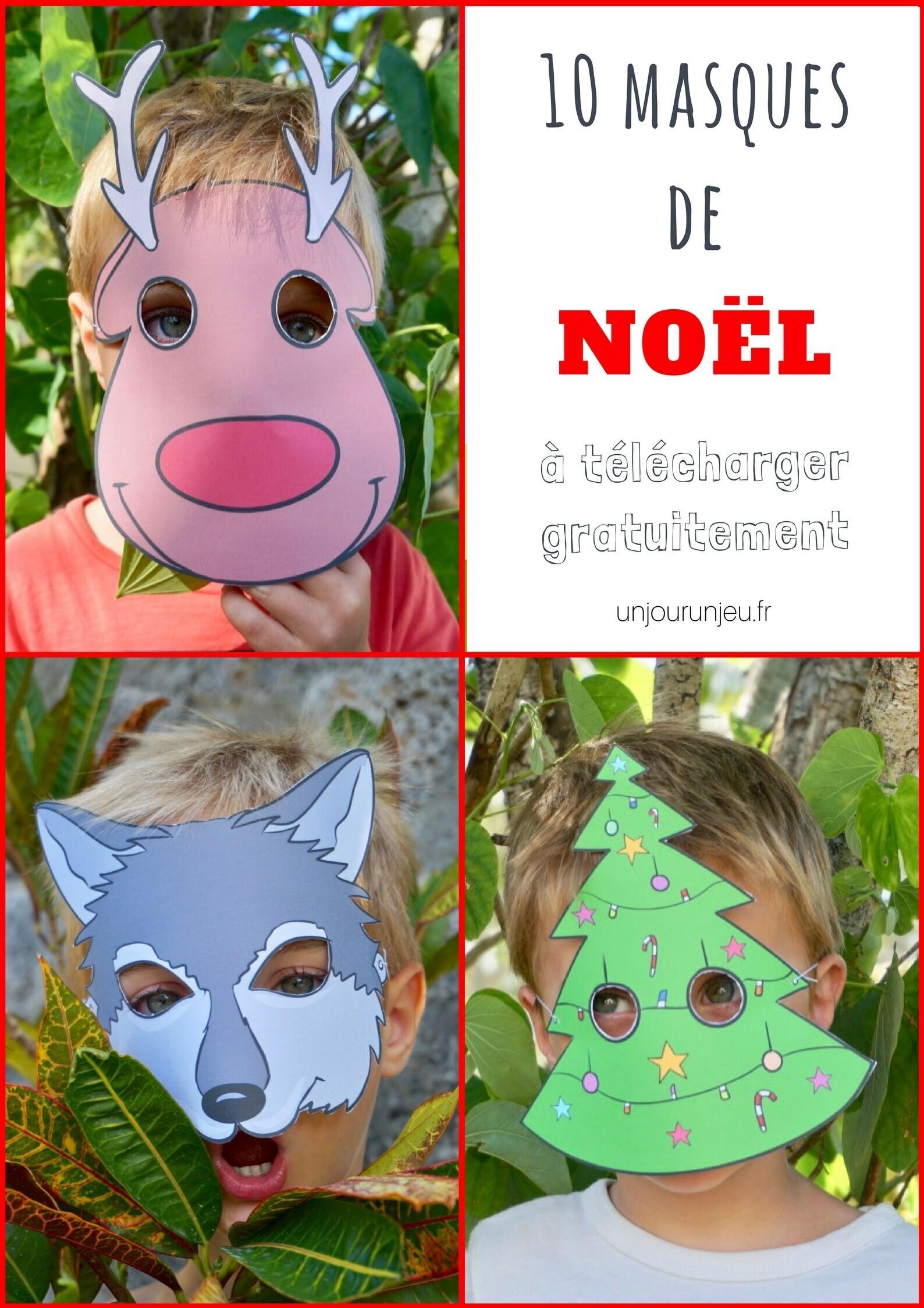 Masques de Noel à imprimer gratuitement