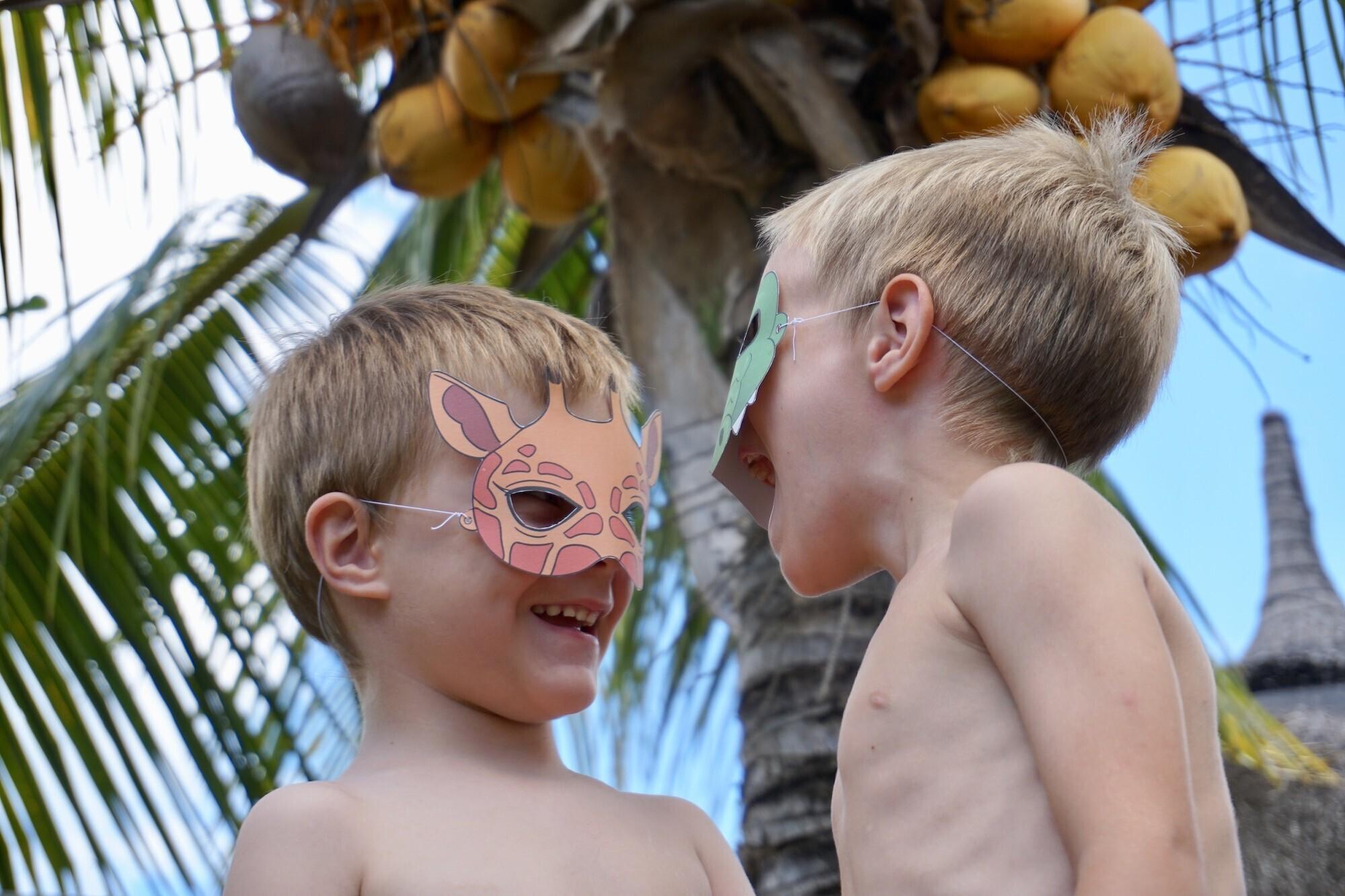 masques à imprimer animaux sauvages