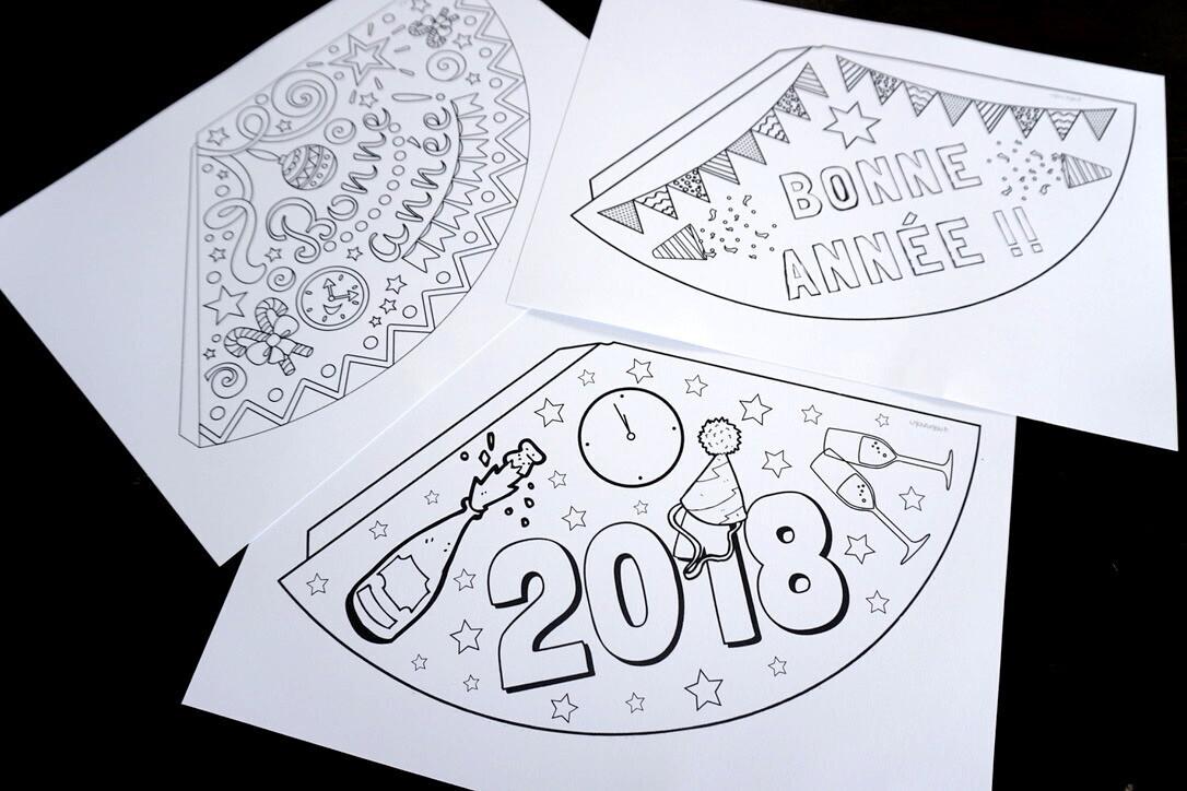 chapeaux pour Nouvel an à imprimer
