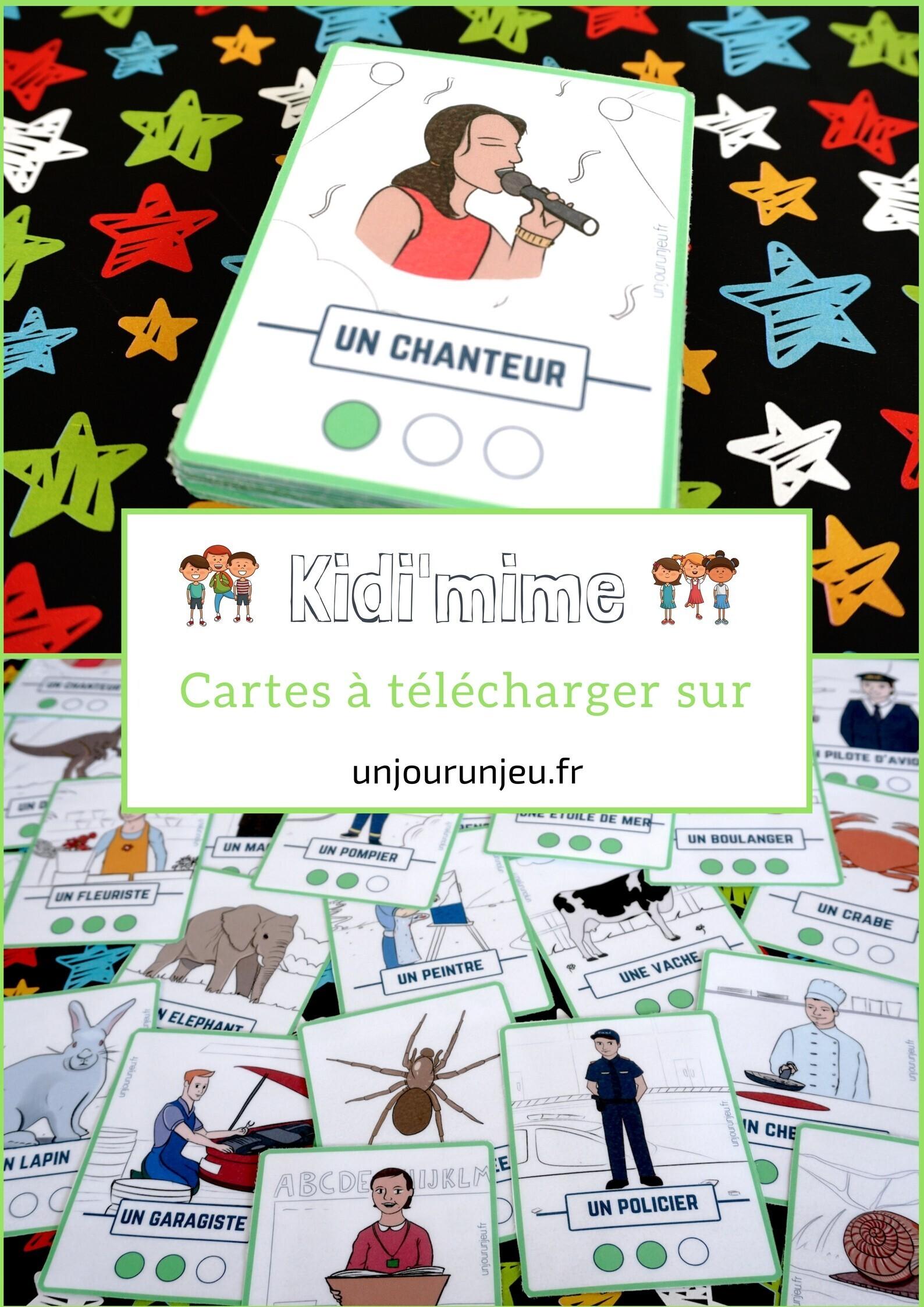 Kidi Mime Un Jeu De Mimes Et D Action A Imprimer Gratuitement