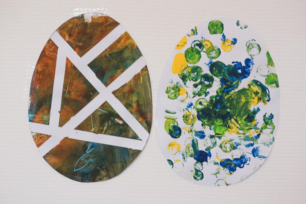 peinture pour réaliser des oeufs de pâques