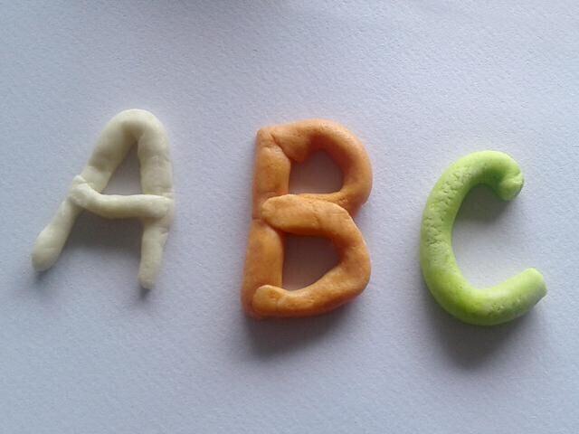 lettre alphabet pate a sel