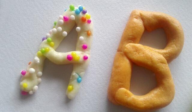 décoration alphabet pate a sel