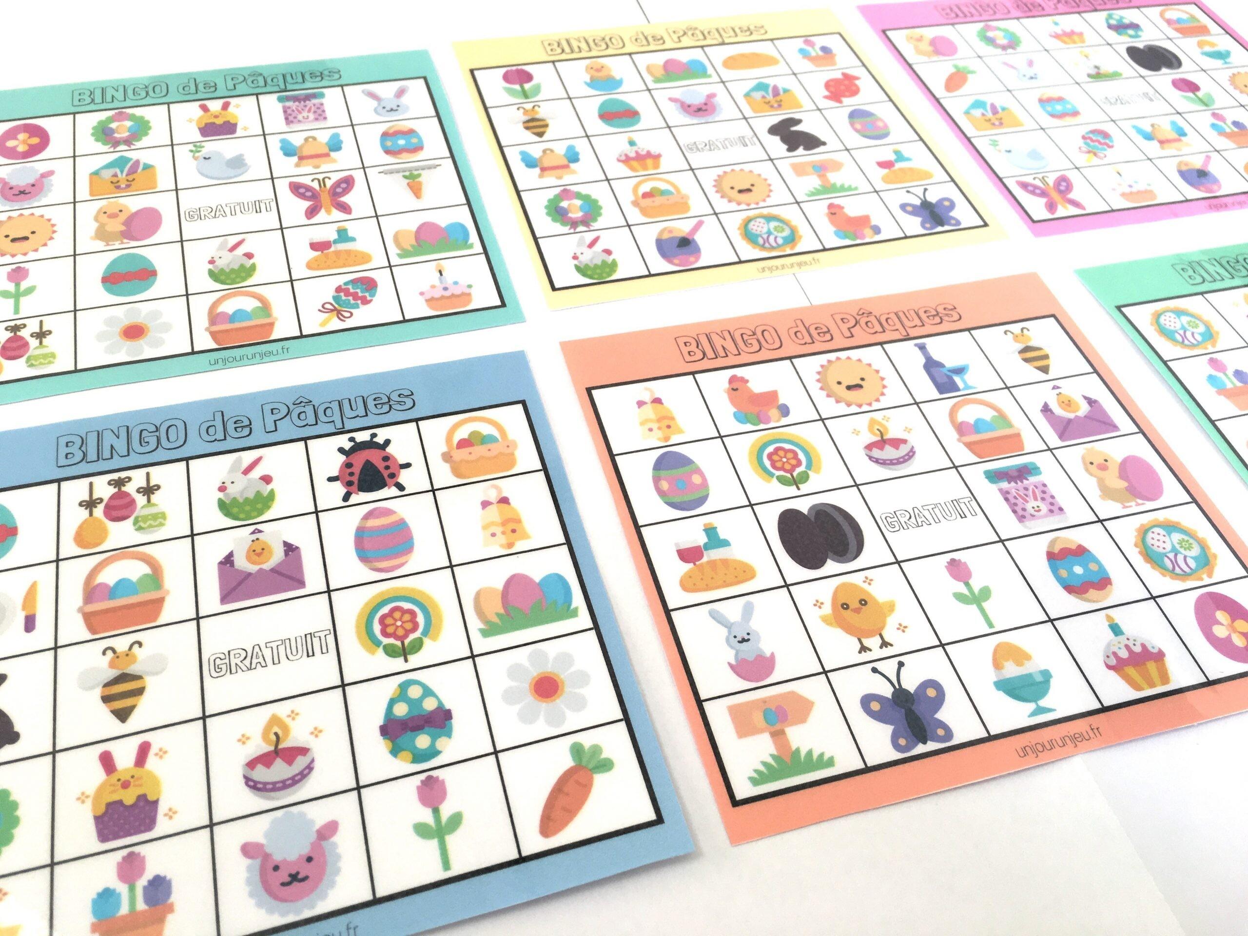 Bingo de pâques à imprimer gratuitement