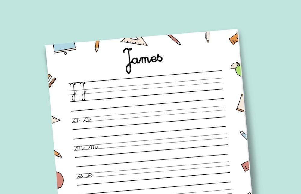 Apprendre à écrire son prénom : générateur en ligne