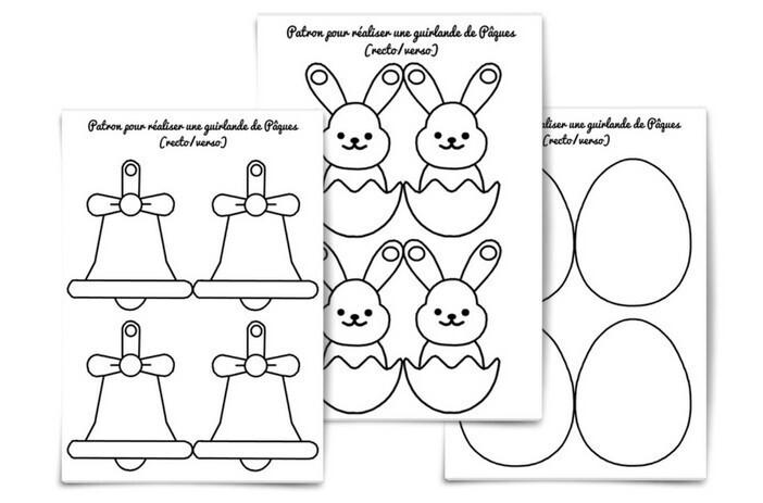Coloriage Paques Guirlande.Jeux Et Activites De Paques Une Guirlande D œufs Pour Decorer La