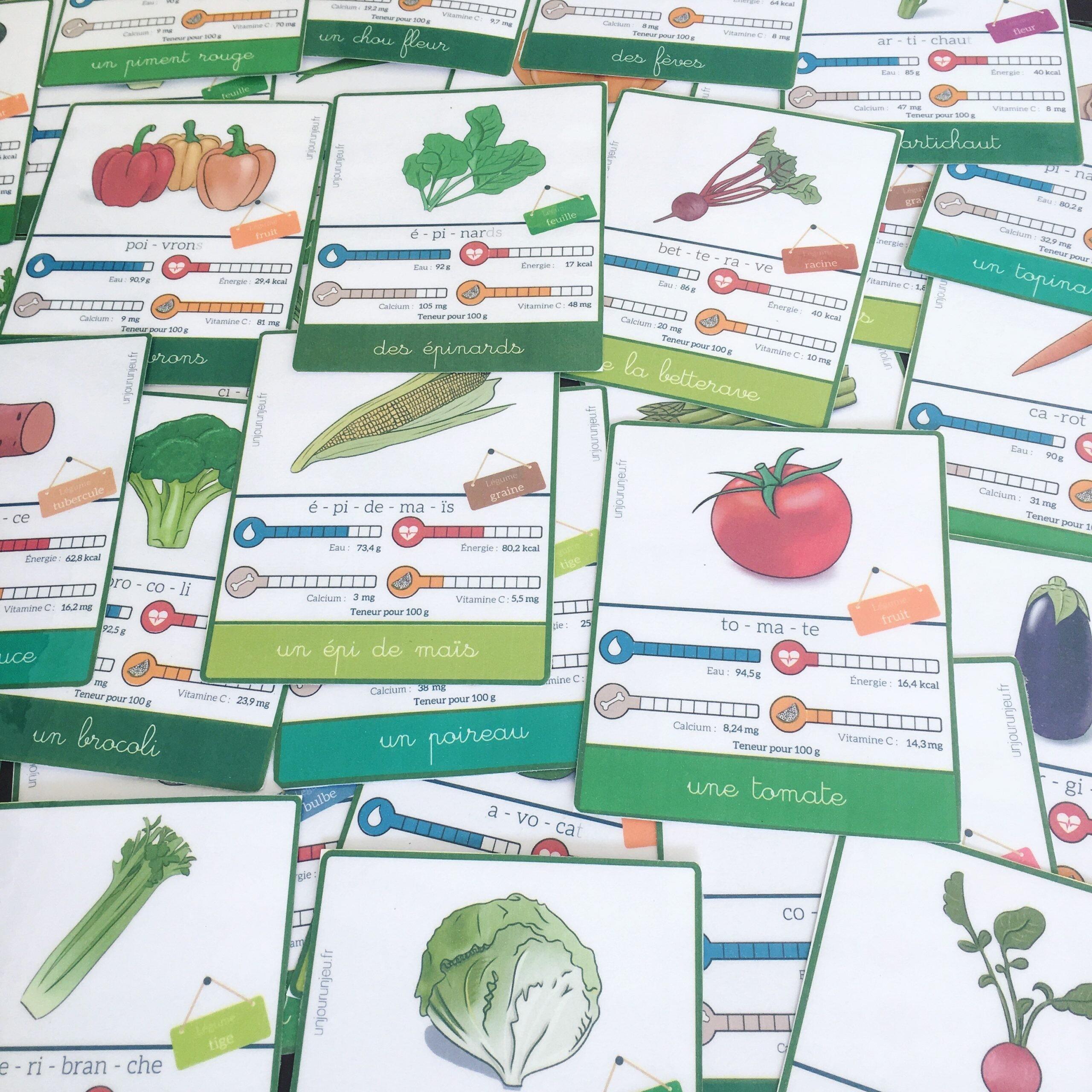 cartes légumes à télécharger