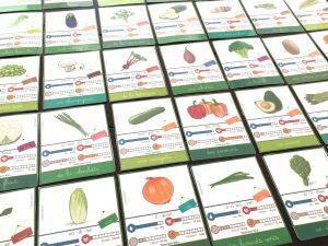 36 cartes de nomenclature sur les légumes