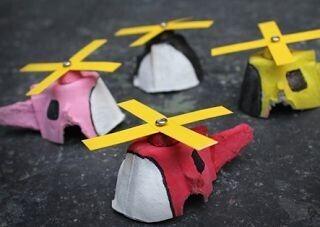 Hélicoptères en boite à oeufs