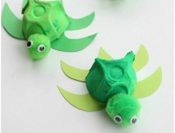 Activité créative : des petites tortues