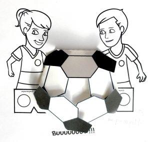 Bricolages coupe du monde football p'tits ouistitis