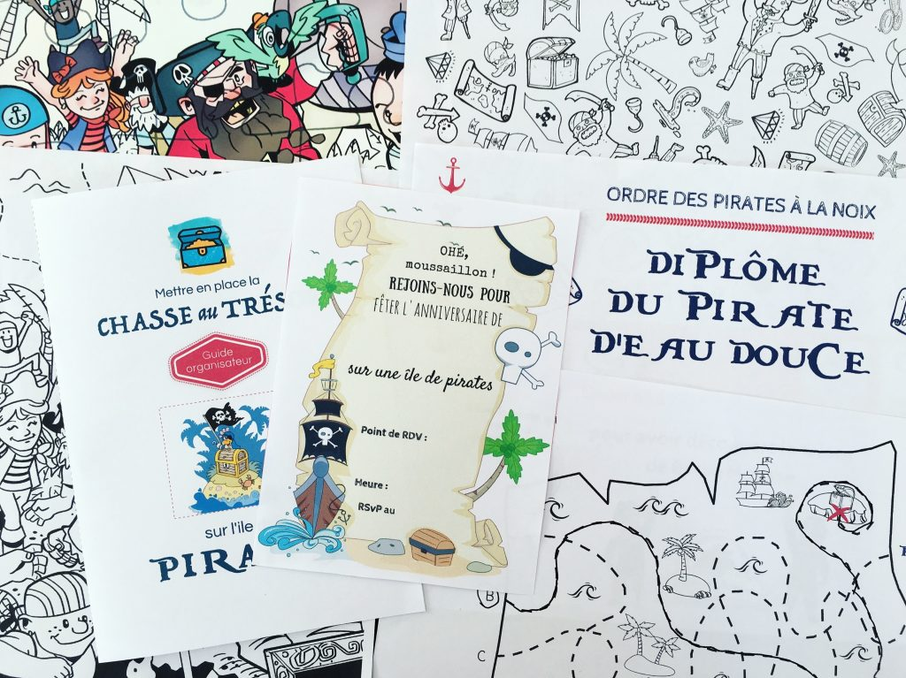 Chasse Au Trésor à Imprimer Pour Un Anniversaire De Pirates