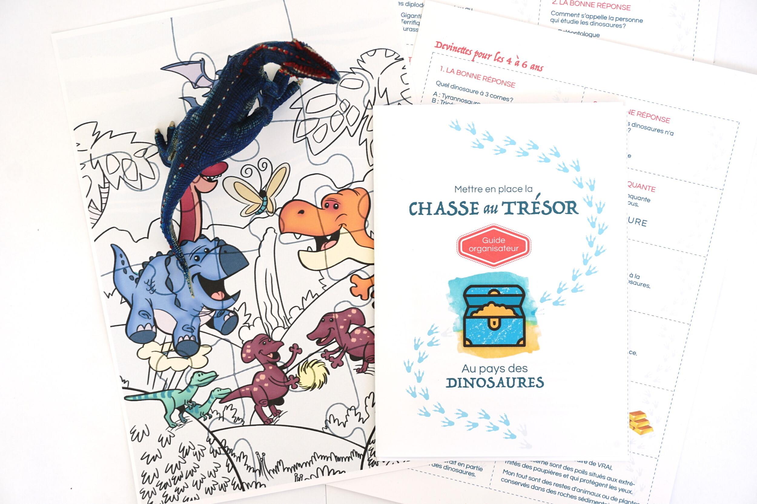Chasse Au Trésor Gratuite à Imprimer Sur Les Dinosaures Un Jour Un Jeu