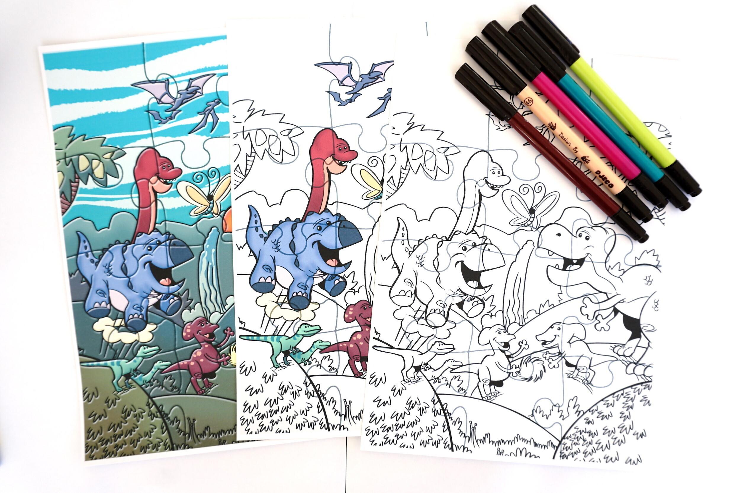 Puzzle dinosaure pour la chasse au trésor